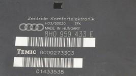 Audi A4 S4 Cabriolet Comfort Convenience Control Module Ccm 8h0959433e image 2