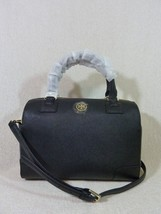 NWT Tory Burch Classic Black Saffiano Leather Robinson Middy Satchel $575 - $473.22
