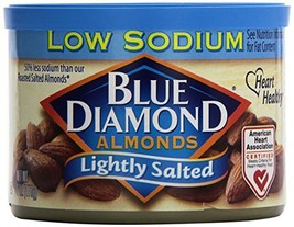 Blue Diamond Almonds, Lightly Salted, Low Sodium, 6 Ounce - $7.38