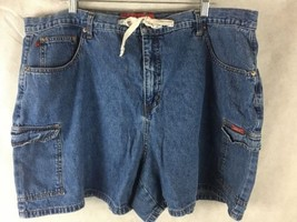 "Zani Di Denim Blue Jean Shorts Size 24 Waist 42""  Cotton High Waist - $16.78"