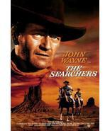 The Searchers Movie POSTER 27 x 40, John Wayne, Jeffrey Hunter, B, LICE... - $20.00