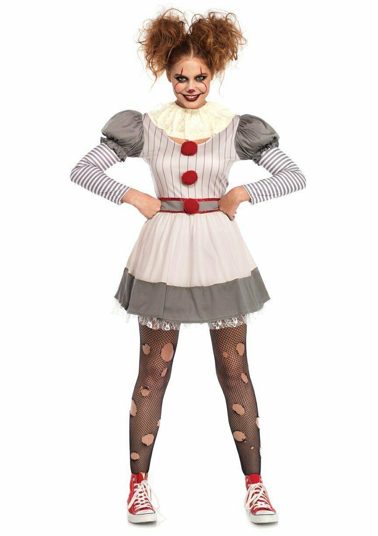 Leg Avenue Gruselig Clown es Pennywise Kleid Erwachsene Damen Halloween Kostüm image 2