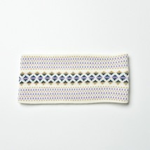 *Black Friday Special* White Lilac Dotted Aztec Knitted Headbands - $13.09