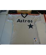 Vintage 80's Houston Astros Sand Knit MacGregor Rainbow Stripe Jersey M  - $98.99