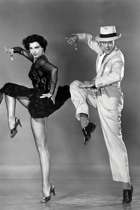 Primary image for Cyd Charisse Fred Astaire Silk Stockings Dancing Studio Pose 18x24 Poster