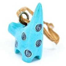 Tabaka Chigware Hand Carved Kisii Soapstone Light Blue Cat Ornament Figure image 2