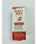 Burt's Bees Renewal Smoothing Eye Reduce wrinkles Cream w Hibiscus Apple - $8.89