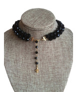 60s Vintage Vendome Trifari Signed black crystal double strand high fash... - $87.00