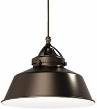 "WAC Lighting MP-LED483-AB/DB Wyandotte 9"" Wide LED Mini Pendant with Spun Metal - $128.25"