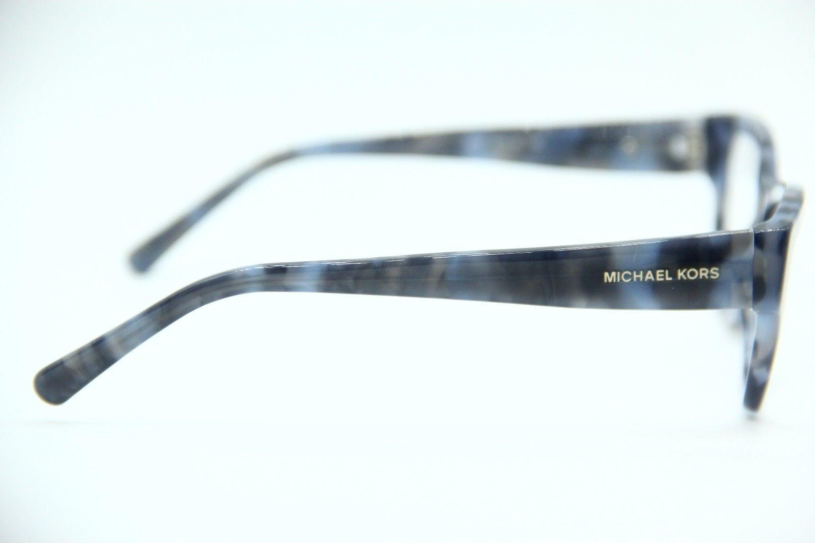NEW MICHAEL KORS MK 4037 3209 BLUE EYEGLASSES AUTHENTIC RX MK4037 53-16