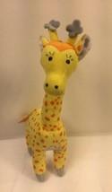 "Disney Baby Plush Giraffe Stuffed Animal Rattle 12"" Tall Yellow Polka Do... - $12.19"