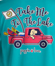 Puppie Love Rescue Dog Men Women Short Sleeve Graphic T-Shirt, To The Lake Pup image 2