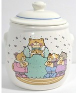Cat Cookie Jar Kitty Family Mom Kittens Treasure Craft Country Style VTG... - $18.37
