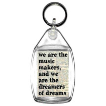 keyring double sided we are the music makers advert fun, novelty, keychain key r