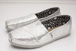 TOMS 7.5 Silver Slip On Women's Metalic - $28.00
