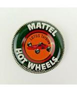 LOTUS TURBINE - Mattel Hot Wheels metal badge/pin/button/pinback 1969 Re... - $14.73