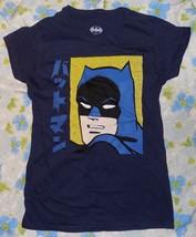 NWOT New DC Comics Japanese Batman Dark Blue Women's T-shirt M Kanji - $15.34