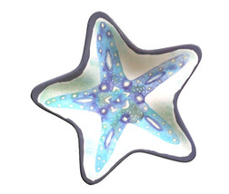 Starfish Shape Melamine Tidbit Dessert Plates Set of 6 Nautical Beach Ho... - $29.58