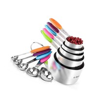 10 Piece Measuring Cups And Spoons Set In 18/8 Stainless Steel - $42.99