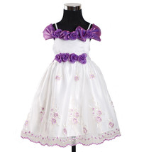 New Flower Girl Party Pageant Dress in Purple,Burgundy,Pink 6-24 Months - $20.21