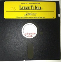 """Commodore 64 License to Kill by DoMark C64 5.25"""" floppy 1989 - $32.95"""