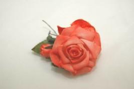 Millinery Hat Pin Vintage 1940's Rose Fabric Velvet Flower - $8.50