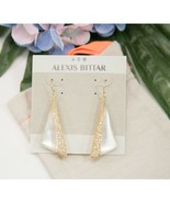 Alexis Bittar Gold White Lucite Wavy Fan Large Drop Earrings NWT - $148.01