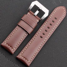 Brown Calf leather strap Bracelet for PAM Panerai luminor band 22mm W/bu... - $39.99