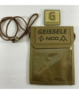 2020  Shot Show Geissele Badge Holder Lanyard Tan Nylon Pocket with Patch - $15.83