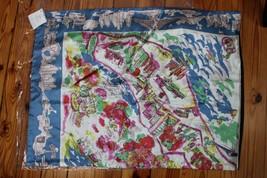 NWT Pottery Barn New York City Scarf Print Silk Blend Pillow Cover Sham 20x26 - $36.10