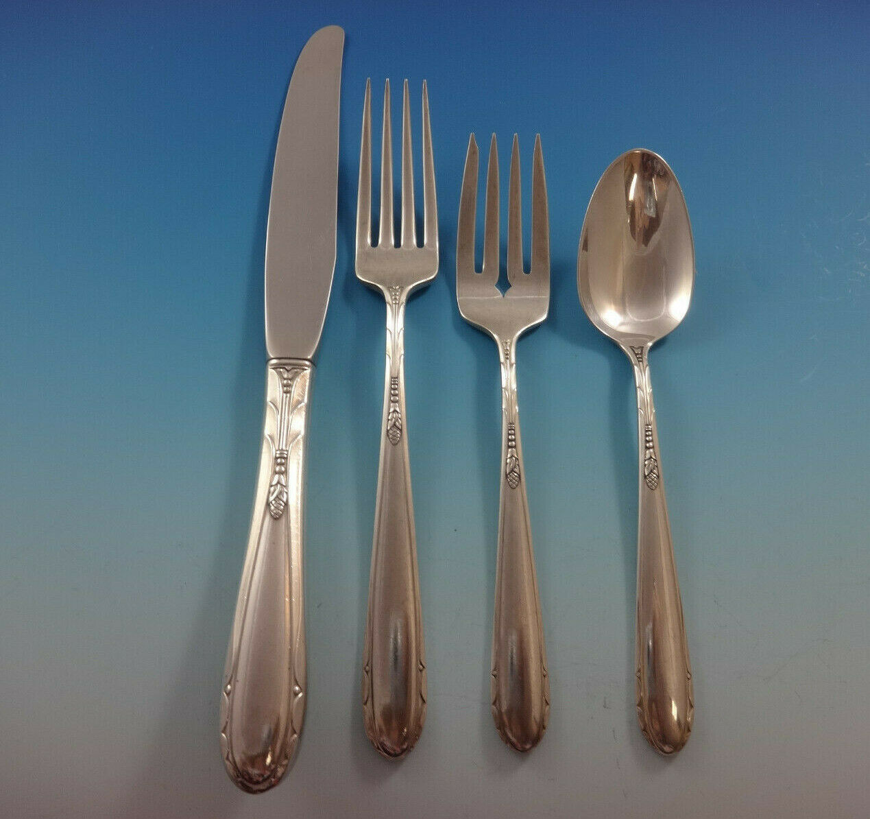 Primary image for Heiress by Oneida Sterling Silver Flatware Set For 8 Service 36 Pieces