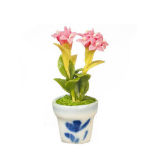 DOLLHOUSE MINIATURES DESERT ROSE IN POT #G7582 - $9.50