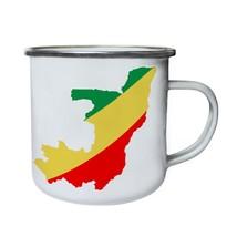 Congo World Map Art Retro,Tin, Enamel 10oz Mug i747e - $13.13