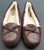 COACH SLIPPERS MOCCASINS SIZE 10 RYLEE GLITTER - £51.08 GBP
