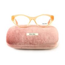 New Miu Miu Eyeglasses VMU 03M QFI 101 Orange Acetate 52 17 140 Authentic - $70.30