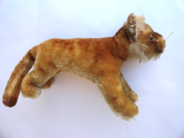 Steiff Young Lion Standing Running Mohair Plush 1950s no ID Vintage - $32.99