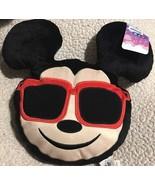 Mickey Mouse Disney Emoji Plush Pillow Cute NEW Kids Room Decor Black Red - $10.20