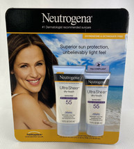 Neutrogena Ultra Sheer Dry Touch Sunscreen Lotion SPF 55 2 Pack 5 + 3 OZ. - $17.35