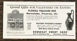1940 Kumquat Sweet Shop Clearwater FL Print Ad Florida Treasure Box Pres... - $7.15