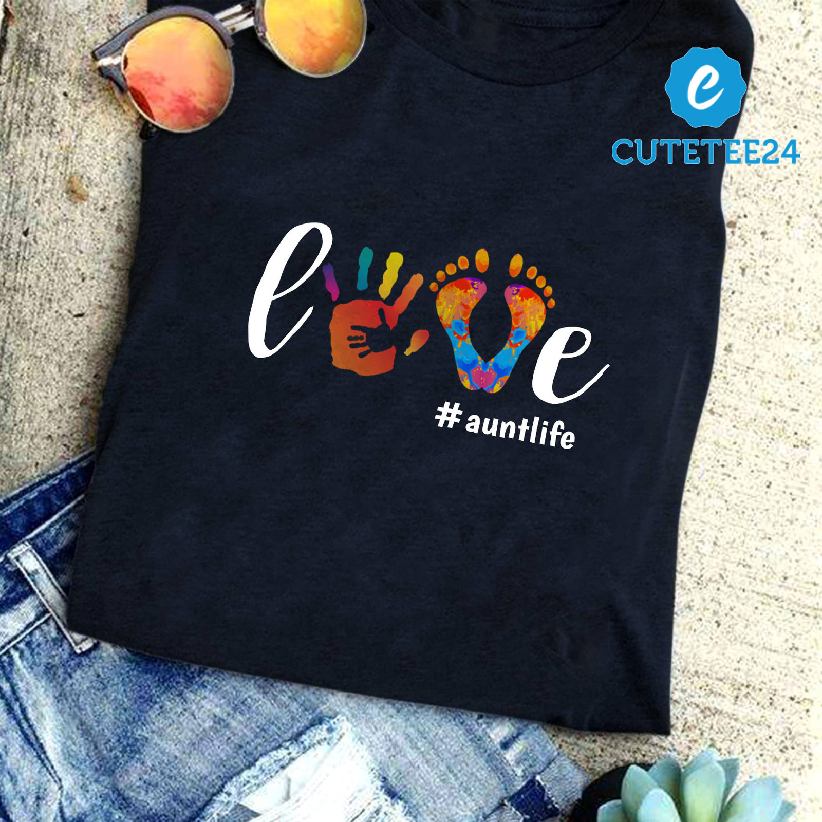 Primary image for Love Aunt Life Cute Watercolor Shirt, Cute Gift For Aunt