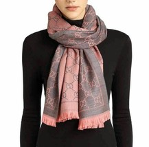 Gucci Authentic 133483 GG jacquard pattern knitted scarf - $219.00