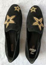 Michael Kors Femmes Chaussures Noir en Cuir Caoutchouc Semelle Broderie Size 6.5 image 3