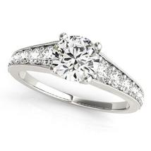 14k White Gold Antique Tapered Shank Diamond Engagement Ring (1 3/8 cttw) - $5,532.69