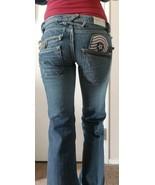 Taverniti So jeans sz 26. Courtney 18 patched boot cut Medium Blue. - $143.55