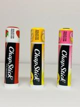 3 ChapStick Peaches & Cream, Pink Lemonade, Classic Strawberry Lip Balm LOT - $9.99