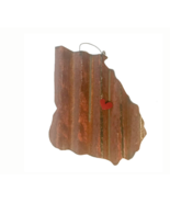 Galvanized State of Georgia with a Red Magnet Heart - $46.53