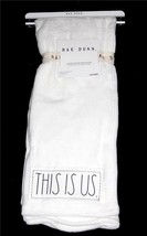 """RAE DUNN """"THIS IS US"""" Patch Plush Super Soft Throw Ivory Off-White 50 x ... - $39.99"""