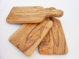 Engraved Olive Wood Rustic Cheese Cutting Board Set / Wooden Chopping Bo... - $70.69 CAD