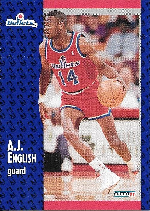 A.J. English ~ 1991-92 Fleer #206 ~ Bullets