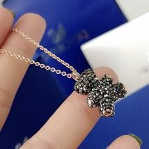 Swarovski Teddy 3D Pendant, Black Crystal Bear ROS  Necklace gift with box - $40.02